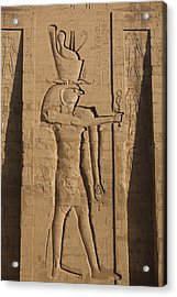 A Large Relief Of The God Horus Acrylic Print by Taylor S. Kennedy