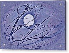 A Las Vegas January Full Moon Acrylic Print by Carl Deaville