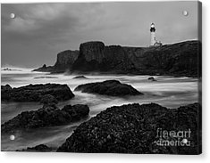 A Light In The Storm Acrylic Print by Keith Kapple