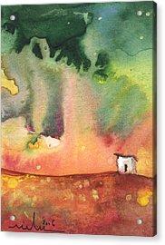A Little House On Planet Goodaboom Acrylic Print by Miki De Goodaboom