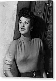 A Man Called Peter, Jean Peters, 1955 Acrylic Print by Everett