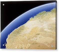 A Map Of Western Australia Acrylic Print by NG Maps