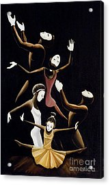A Mime To Praise Acrylic Print by Frank Sowells Jr