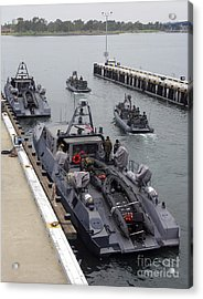 A Mk-v Special Operations Craft Tied Acrylic Print by Michael Wood