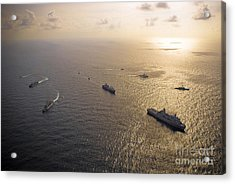 A Multi-national Naval Force Navigates Acrylic Print by Stocktrek Images