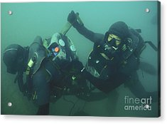 A Navy Seal Combat Swimmer Removes Acrylic Print by Michael Wood
