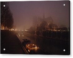 A Night View Across The Seine Towards Acrylic Print by James L. Stanfield