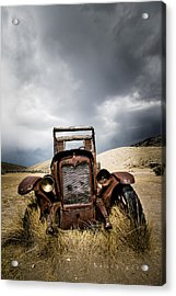 A Old Time Car Acrylic Print by Henny Gorin