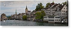 A Panorama View Of Zurich Acrylic Print by Greg Dale