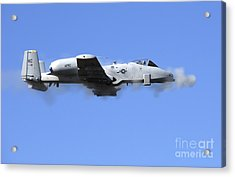 A Pilot In An A-10 Thunderbolt II Fires Acrylic Print by Stocktrek Images