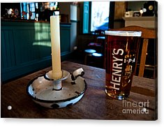 A Pint Of Henry's Acrylic Print by Rob Hawkins