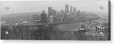 A Pittsburgh Winter Day Acrylic Print by David Bearden