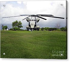 A Rh-53d Sea Stallion Helicopter Acrylic Print by Michael Wood