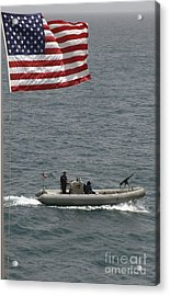 A Rigid Hull Inflatable Boat Acrylic Print by Stocktrek Images