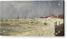 A Rough Day At Leigh Acrylic Print by William Pye
