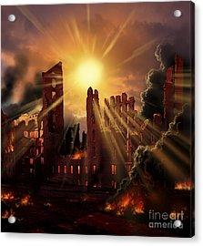 A Solar Flare, An Enormous Eruption Acrylic Print by Ron Miller