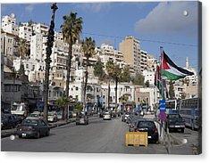 A Street Scene In Amman, Jordan Acrylic Print by Taylor S. Kennedy