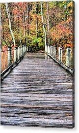 A Stroll Through Autumn Acrylic Print by JC Findley