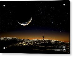 A Thin Veil Of Gaseous Material Acrylic Print by Frank Hettick