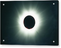 A Total Solar Eclipse Over France Acrylic Print by Carsten Peter