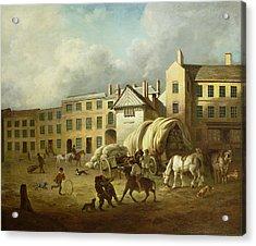 A Town Scene  Acrylic Print by George Garrard