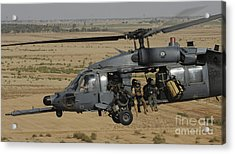 A U.s. Air Force Hh-60 Pavehawk Flies Acrylic Print by Stocktrek Images