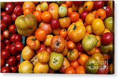 A Variety Of Fresh Tomatoes - 5d17812-long Acrylic Print by Wingsdomain Art and Photography