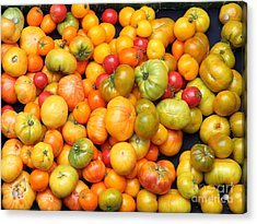A Variety Of Fresh Tomatoes - 5d17904 Acrylic Print by Wingsdomain Art and Photography