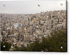A View Of Amman, Jordan Acrylic Print by Taylor S. Kennedy