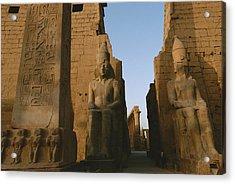 A View Of Luxor Temple Acrylic Print by Kenneth Garrett