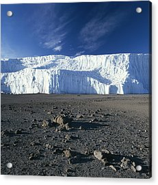 A View Of Mount Kilimanjaros Summit Acrylic Print by David Pluth