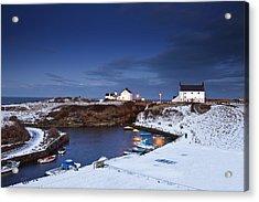 A Village On The Coast Seaton Sluice Acrylic Print by John Short