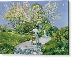 A Walk In The Park Acrylic Print by Childe Hassam