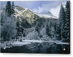 A Winter View Of The Merced River Acrylic Print by Marc Moritsch