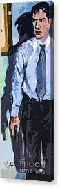 Aaron Hotchner Persuing The Reaper Acrylic Print by Ginette Callaway