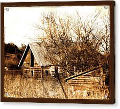 Abandoned Barn  Acrylic Print by Ann Powell