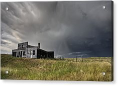 Abandoned Farmhouse Saskatchewan Canada Acrylic Print by Mark Duffy