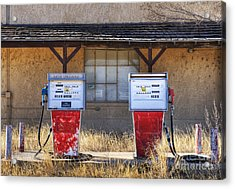Abandoned Gas Pumps And Station Acrylic Print by Dave & Les Jacobs