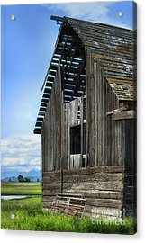 Abandoned Montana Barn Acrylic Print by Sandra Bronstein