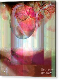 Abandoned Rose - Not Seperate From Illusion Acrylic Print by Fania Simon