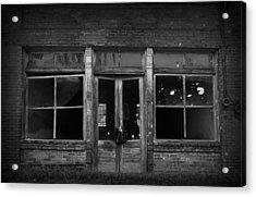 Abandoned Storefront Acrylic Print by Kelly Hazel
