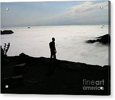Above The Clouds Acrylic Print by Silvie Kendall