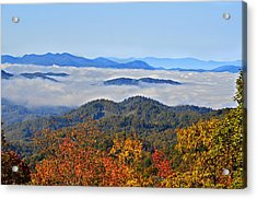 Above The Clouds Acrylic Print by Susan Leggett
