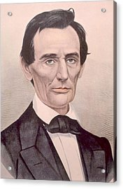 Abraham Lincoln 1808-1865, U.s Acrylic Print by Everett