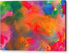 Abstract - Crayon - Melody Acrylic Print by Mike Savad