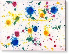 Abstract - Gesso And Food Color - My New Carpet Acrylic Print by Mike Savad