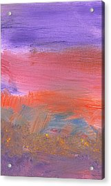 Abstract - Guash - Lovely Meadows 2 Of 2 Acrylic Print by Mike Savad