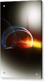 Abstract 101311c Acrylic Print by David Lane