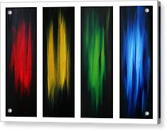 Abstract Art Colorful Original Painting Winter Passion By Madart Acrylic Print by Megan Duncanson