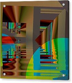 Abstract Colors Acrylic Print by Mario Carini